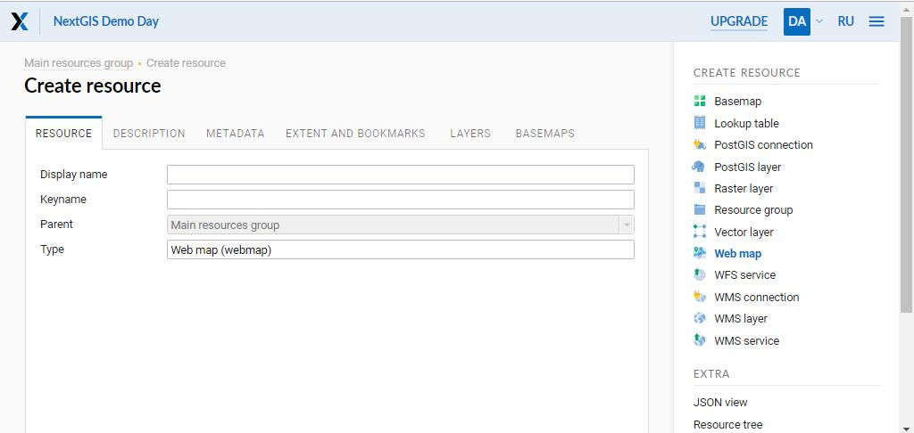 2 8  Administration of web map — NextGIS 1 11 documentation